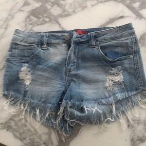 Signature8 denim jean shorts